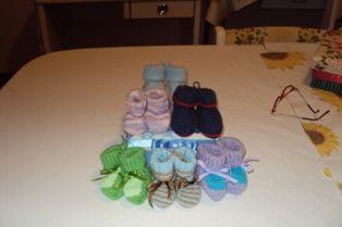 sapatinhos de tricô para bebê