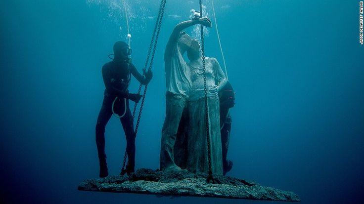 Europe's first underwater museum is opening in waters off the Spanish island of Lanzarote.  el primer museo submarino de europa se abrirá en 2017 en Lanzarote