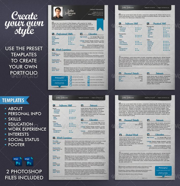 Professional Resume by TheAlikA | GraphicRiver