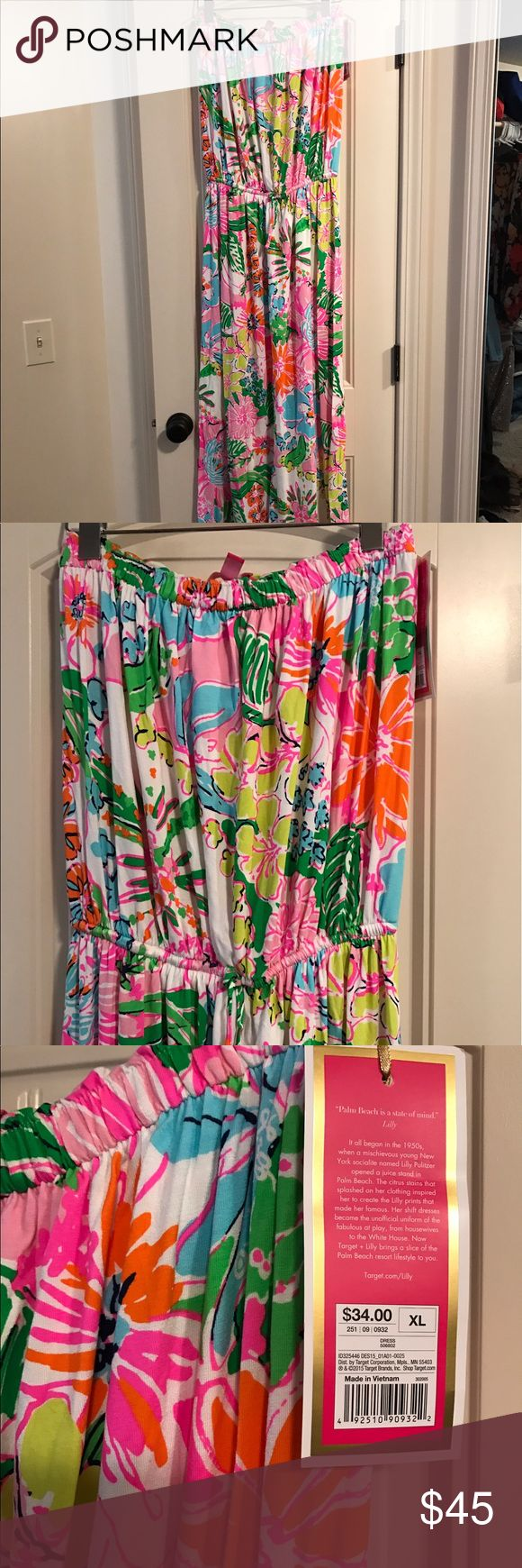Lily Pulitzer for Target Maxi Dress NWT Lily Pulitzer for Target Maxi Dress NWT. Built in bra, stretchy fabric that hangs nicely. Size XL Lilly Pulitzer for Target Dresses Maxi