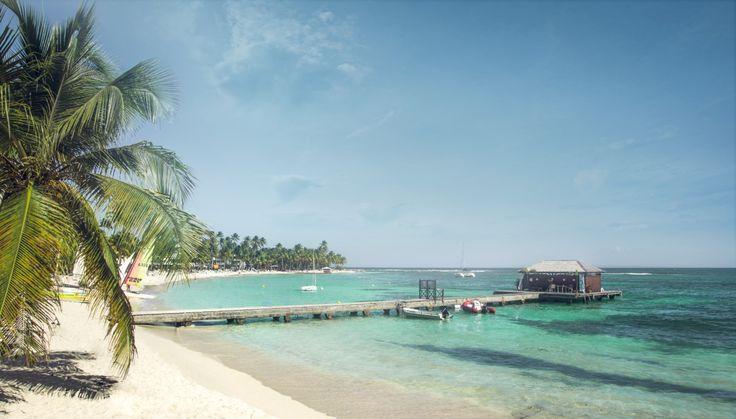 Club Med La Caravelle, Guadeloupe. Plage.