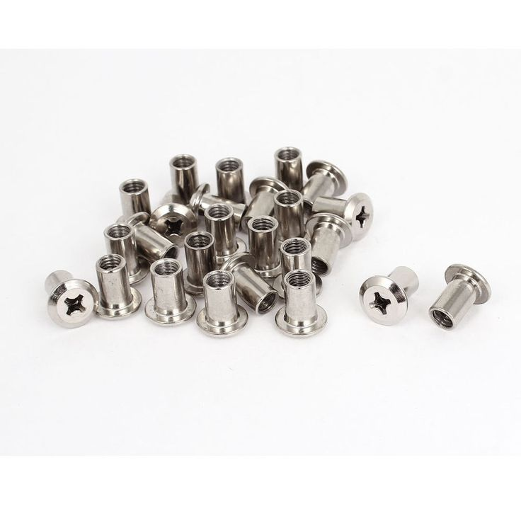 25 Pcs M6 Rivet Phillips Socket Head Cap Screw Barrel Nuts Furniture Hardware