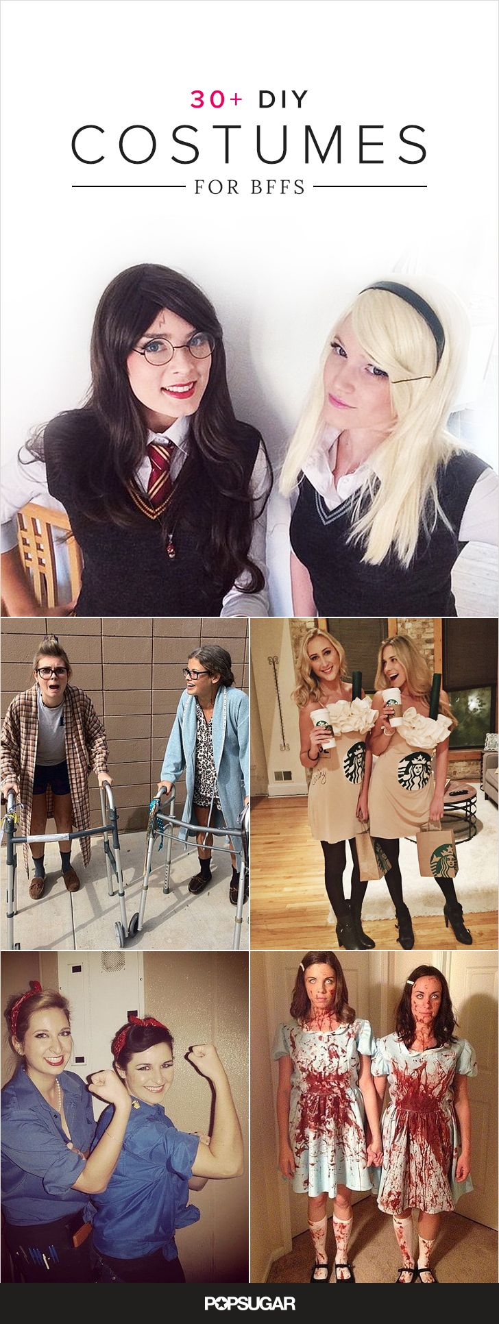 While dressing up with your best friend is always a good idea, making your own costumes allows for you to flaunt your glorious friendship. Also your inventive creativity and enviable craft skills will shine through.