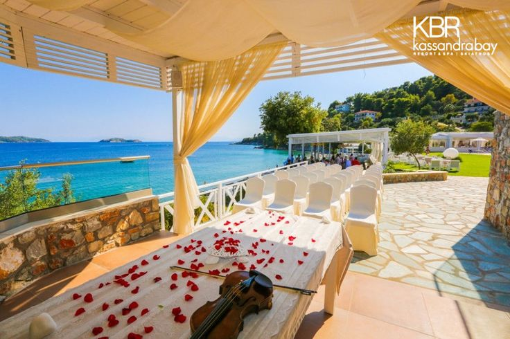 A luxury wedding on the island of Skiathos … Upscale and tailor-make the ceremony and reception to your individual wishes, with the contribution of our professional team at Kassandra Bay Resort & Spa! More at kassandrabay.com
