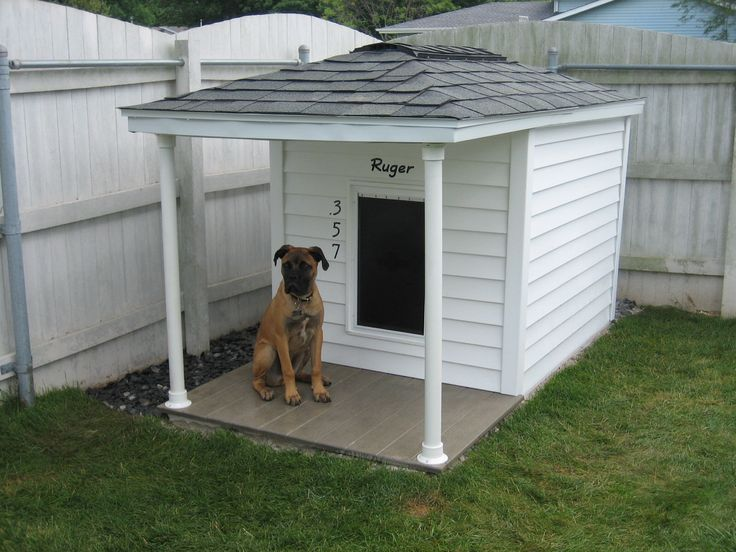 this dog house has siding is insulated has a shingled vented roof is cedar lined has a composite deck and is heated