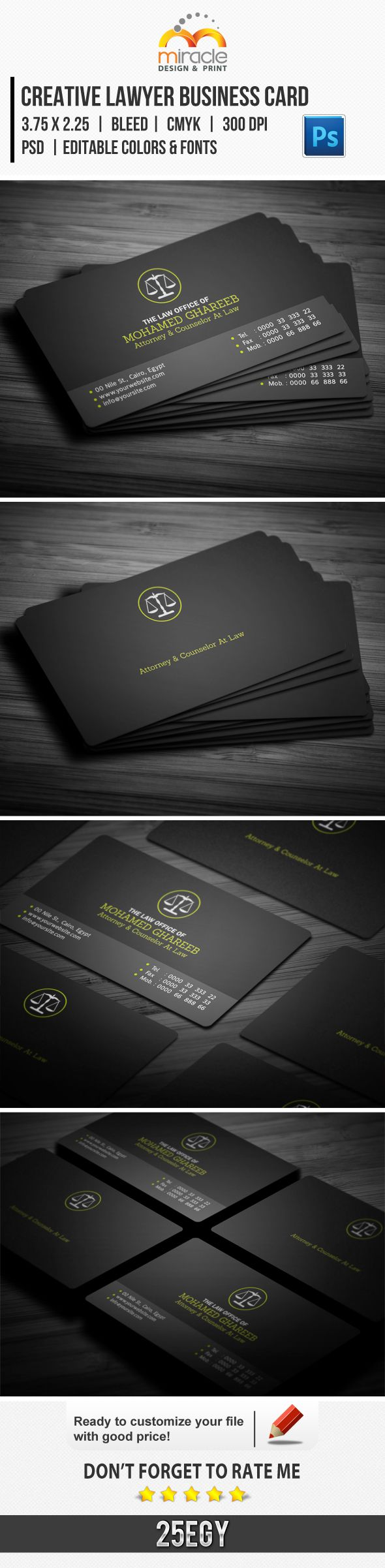 Creative Lawyer Business Card by EgYpToS