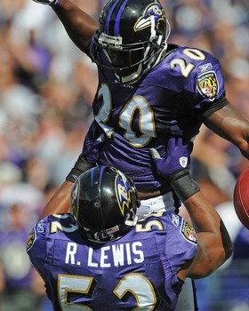 Ed Reed and Ray Lewis Picture at Baltimore Ravens Photo Store