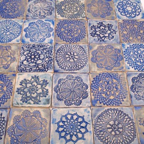 kafle robione ręcznie, handmade ceramic tiles