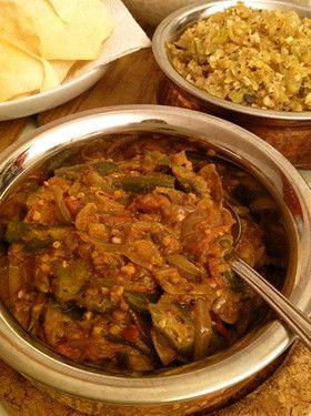 インド家庭料理:オクラと玉ねぎのマサラ  Okra & Onion Curry, Indian Food Recipe via Cookpad Japan