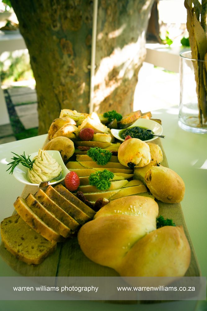 Food at Pure - Perfect for a summer event. Homemade #breads