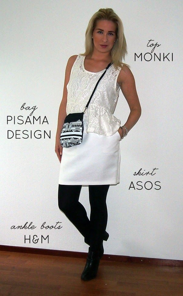 finnish design pisama denim bag shoulder white skirt pencil lace top nordic