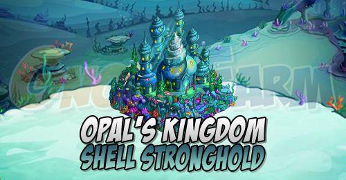 Opals Kingdom: Shell Stronghold (edificio principale) tempo stimato per la lettura di questo articolo 1 minuti  La costruzione principale esterna alla Farm Opals Kingdom sarà lo Shell Stronghold.Niente di nuovo rispetto agli altri edifici dello stesso genere presenti nelle altre Farm.Lo costruiremo in 9 fasi e al completamento di ciascuna fase riceveremo in regalo un animale.  Livelli:  Livello 1: 10 Conch Shells  10 Star Shovel  10 Crystal Shard  Livello 2: 3 Conch Shells  3 Star Shovel  3…