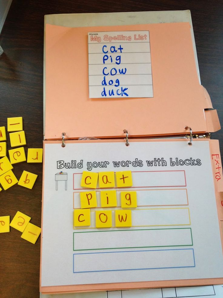 Reading center activities for special ed, organized in a binder, and using functional words! Use tiles to spell words...great for non-writers!