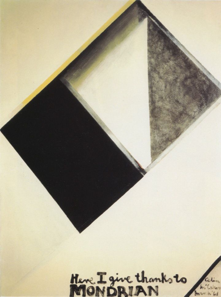Here I Give Thanks To Mondrian, 1961. Colin McCahon.