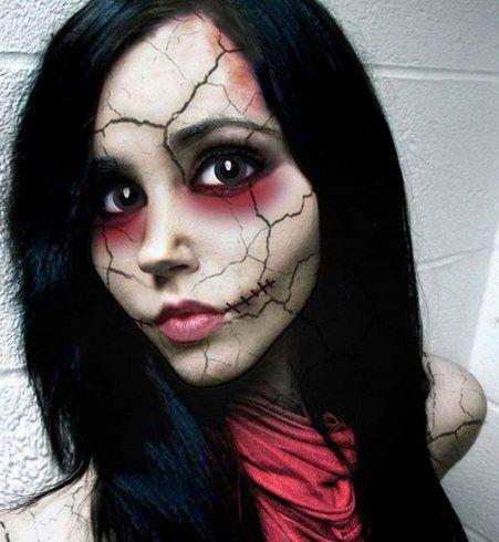 Maquillage d'Halloween : la poupée machiavélique