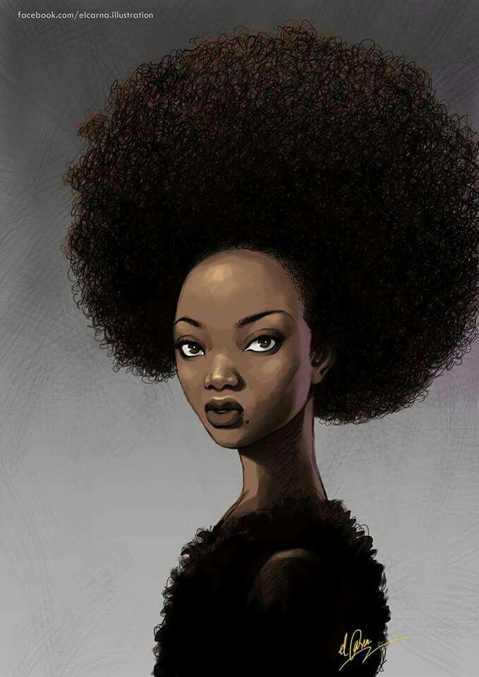 An entire universe and nature in Black Women's natural ...  |Afro Hair Art