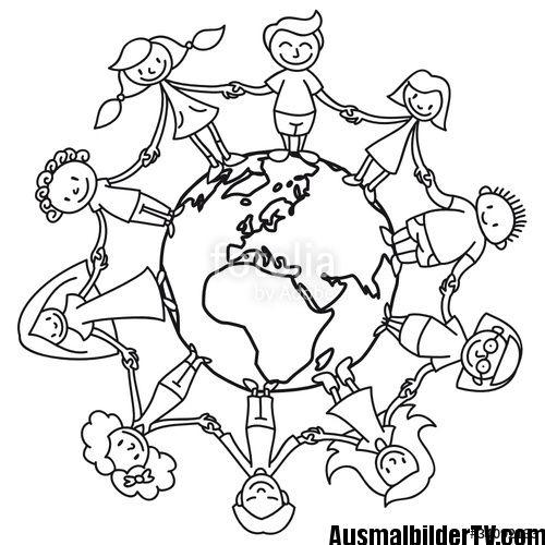 Freundschaft Malvorlagen Ausmalbilder Kinder Dieser Welt