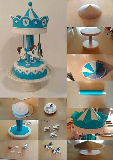 Tio vivo | horse carousel ride cake for a girls birthday party or baby shower | How to make this, full tutorial and instructions