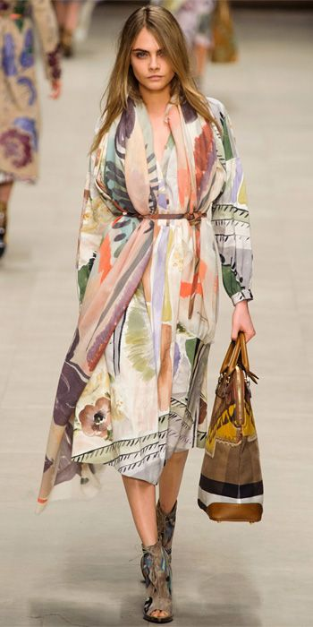 Burberry Prorsum A/W 2014 collection by Christopher Bailey. One of the best collections featuring beautiful fabrics and silhouettes. via instyle.com