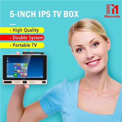 Mesuvida GOLE1 אינץ 'IPS Windows10 & Android5.1 טלוויזיה בתיבת אינטל Cherrytrail Z8300 Quad Core mini PC 5 גרם 4 גרם 64 גרם WIFI Set Top תיבת
