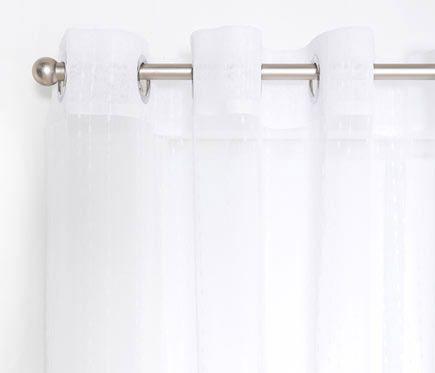 Inspire visillo con ollaos livia blanco cortinas y for Visillos leroy merlin