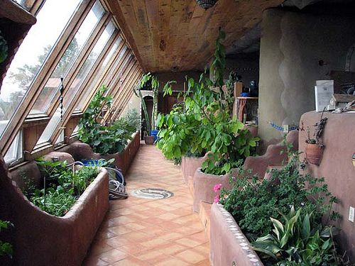 Self-sustaining Earthship garden