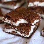 Oreo Cream Filled Brownies