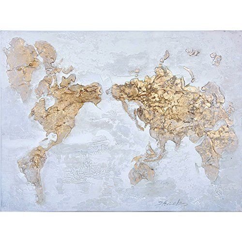 Map in Original Hand Painted Wall Art