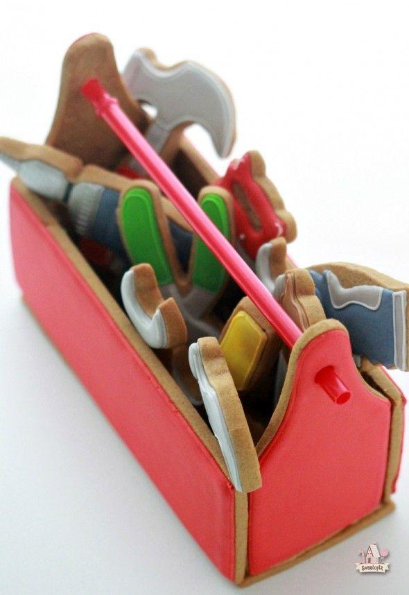 Caja de herramientas hechas de galletas. TUTORIAL