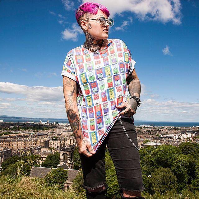 "CRMC X @russelltaysom ""Hells Bells"" Tee Available at www.crmc-clothing.co.uk   WE SHIP WORLDWIDE Model - L Raquel Photography - Adrian McNab  #darkwear #andywarhol #andywarholart #warhol #hellsbells #altfashion #alternative #instafashion #fashionstatement #fashiongram #fashionista #instastyle #stylegram #campbellssoup #menwithtattoos #condemned #secretsauce #styles #style #alternativeguy #altern..."