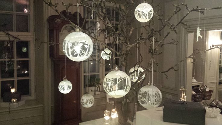 Jette Frölich Glass Baubles with Skating girl & LED light. #Jette Frölich #Christmas decor #Home decor #Danish design