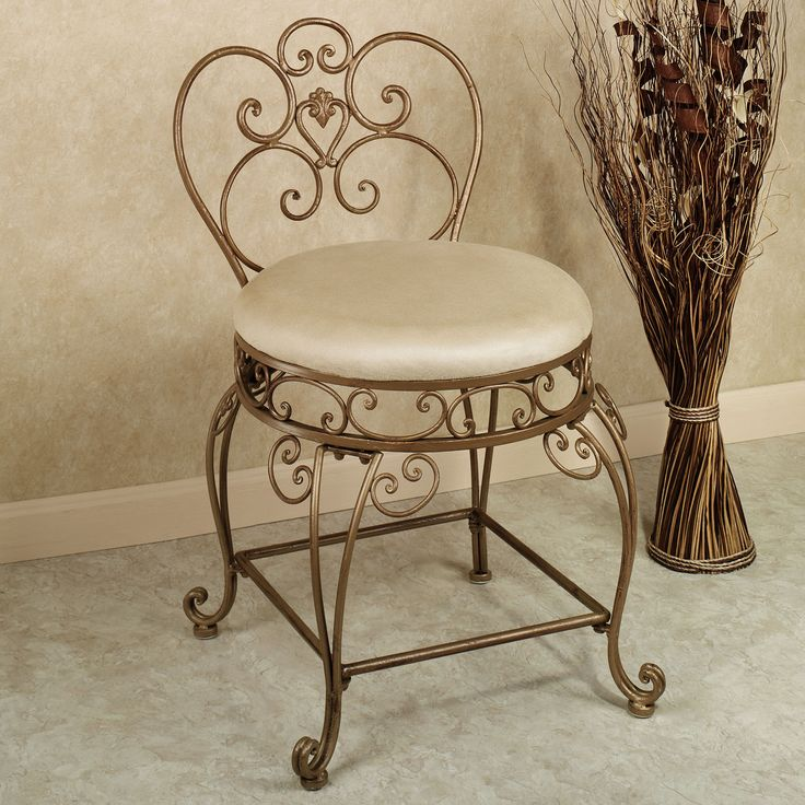 7 best wrought iron vanity chairs images on pinterest