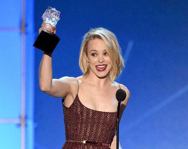 Actress Rachel McAdams accepts Best Acting Ensemble award for 'Spotlight' onstage during the 21st Annual Critics' Choice Awards at Barker Hangar on January 17, 2016 in Santa Monica, California.