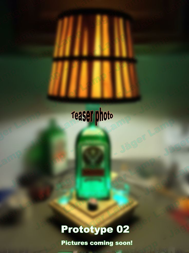 Jäger Lamp for sale in early 2014. This is the  prototype 2's teaser photo. Jagermeister Lamp #jagerlamp