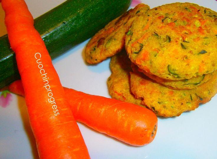 Polpette carote e zucchine al forno