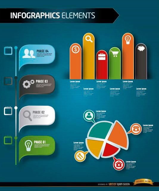 Free Vectors: Infographics Elements on Behance