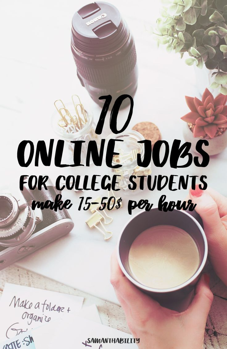 10 Online Jobs for College Students These online jobs for college students fit m… – Designer.ca
