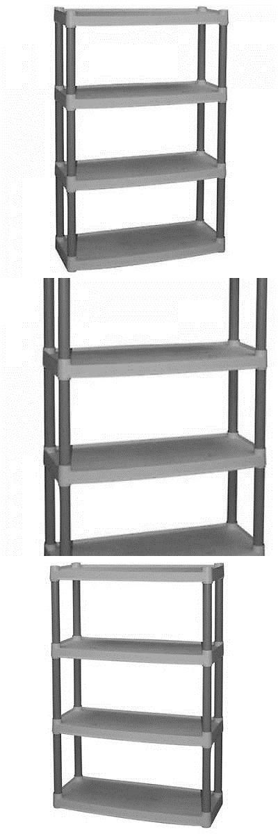 Other Home Organization 20621: Plastic Shelves 4-Tier Storage Organizer Kitchen Heavy Duty Garage Shelving Unit -> BUY IT NOW ONLY: $31.81 on eBay!