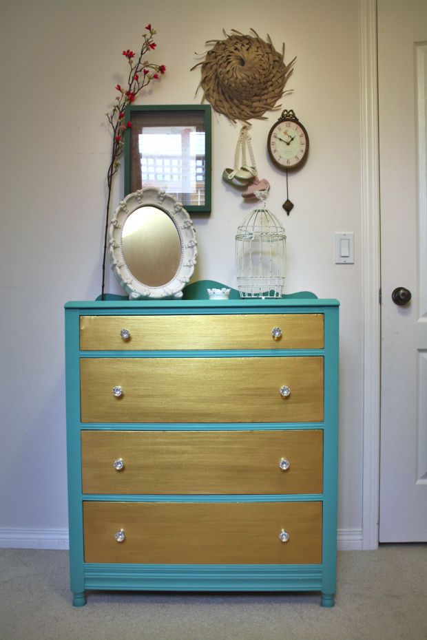 Charming Two-Tone Dresser {guest post}