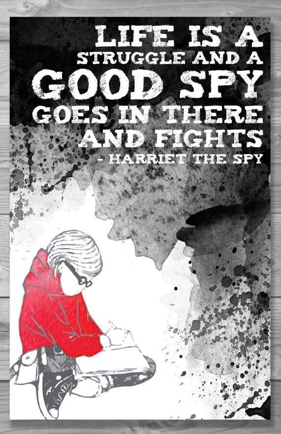 Harriet The Spy Good Spy Poster by Shaileyann on Etsy