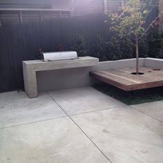 Image result for concrete bench top bbq