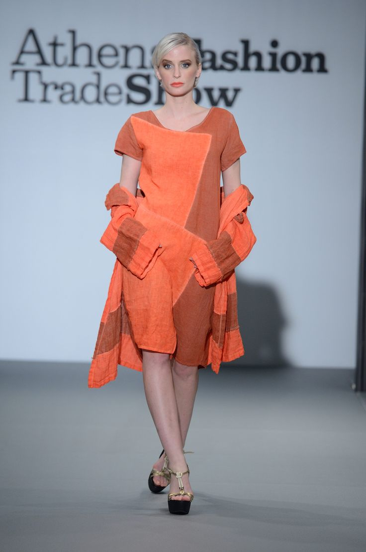 Great coral linen dress with linen jacket. 100% Natural fabrics only.