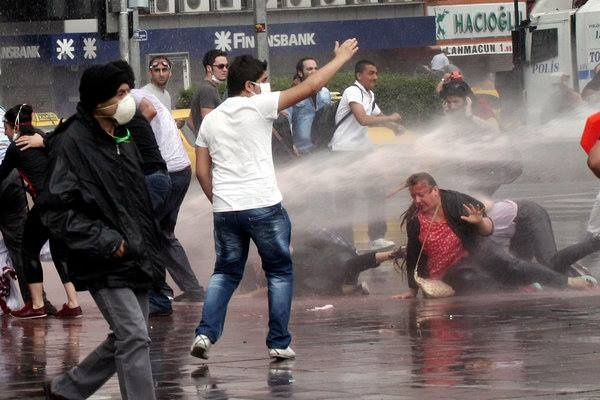 """""""In at least two strongholds of support for Mr. Erdogan, the nature of the confrontation seemed to take a more dangerous turn, as antigovernment protesters clashed with his civilian backers. In Mr. Erdogan's childhood neighborhood in Istanbul, a group of government supporters joined the police with sticks and fought against protesters, according to one witness. In Konya, a conservative town in the Anatolian heartland, government supporters also clashed with protesters, according to a local…"""