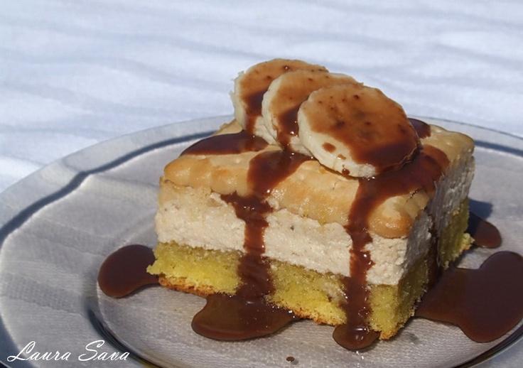 Prajitura cu crema si biscuiti