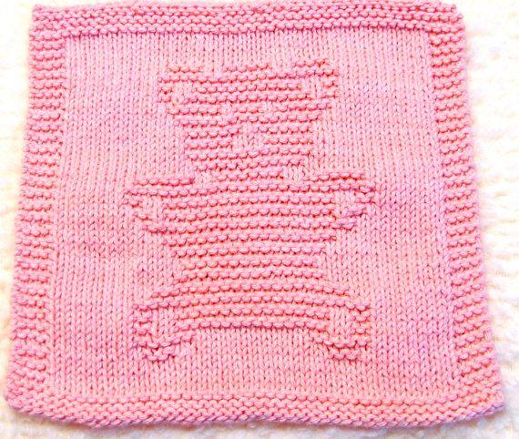 Large Knitting Cloth Pattern TEDDY BEAR PDF