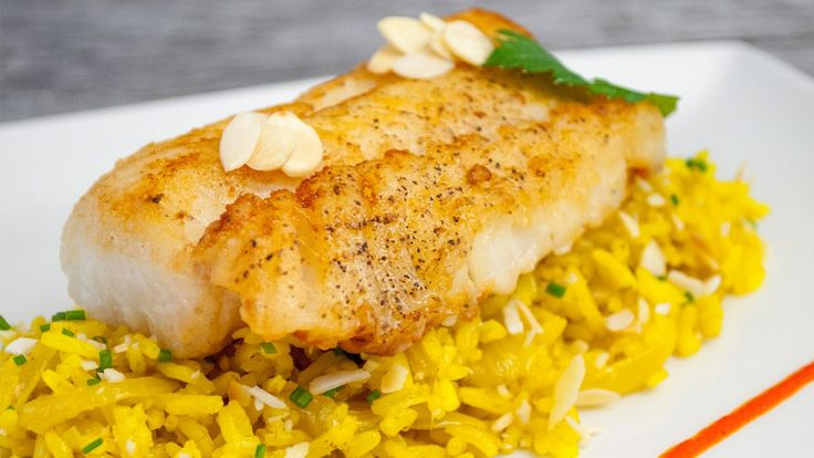 Fried Cod with Tumeric Rice - Gusto