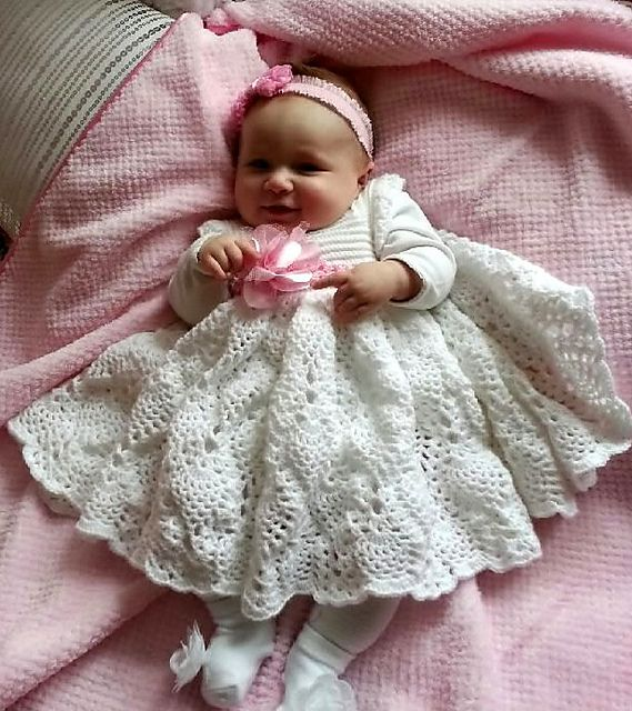 3-6 mo, 6-9 mo, 12 mo  http://www.ravelry.com/patterns/library/baby-pineapple-party-dress#