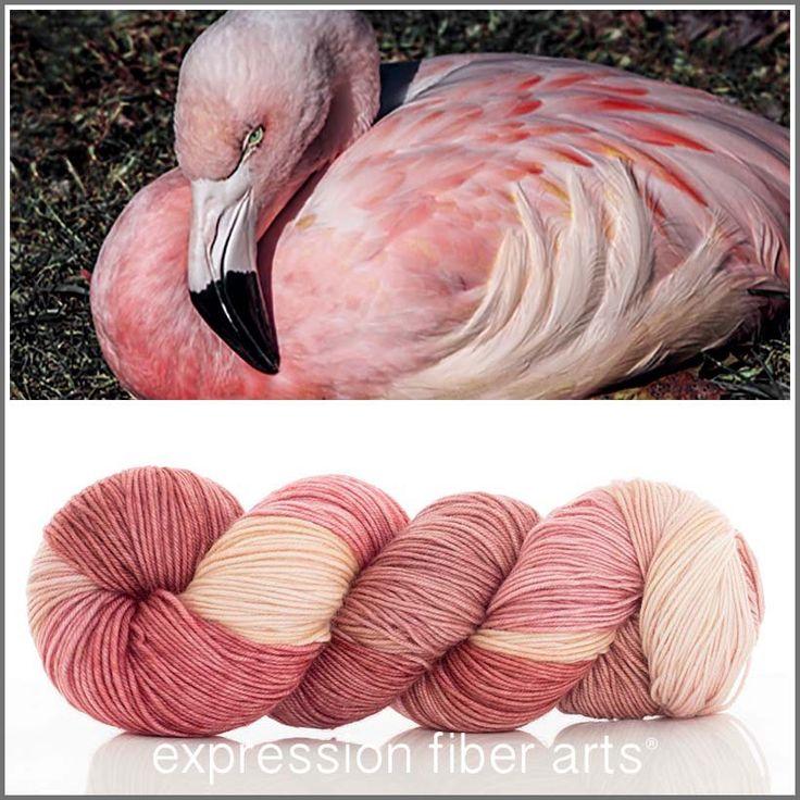 Expression Fiber Arts Yarn - FLAMINGO 'RESILIENT' SUPERWASH MERINO SOCK, $24.00 (http://www.expressionfiberarts.com/products/flamingo-resilient-superwash-merino-sock.html)