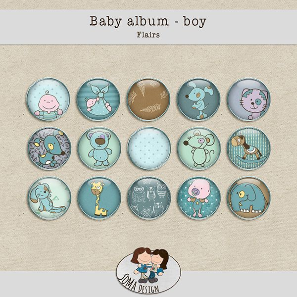 SoMa Design: Baby album - Boy - Flairs