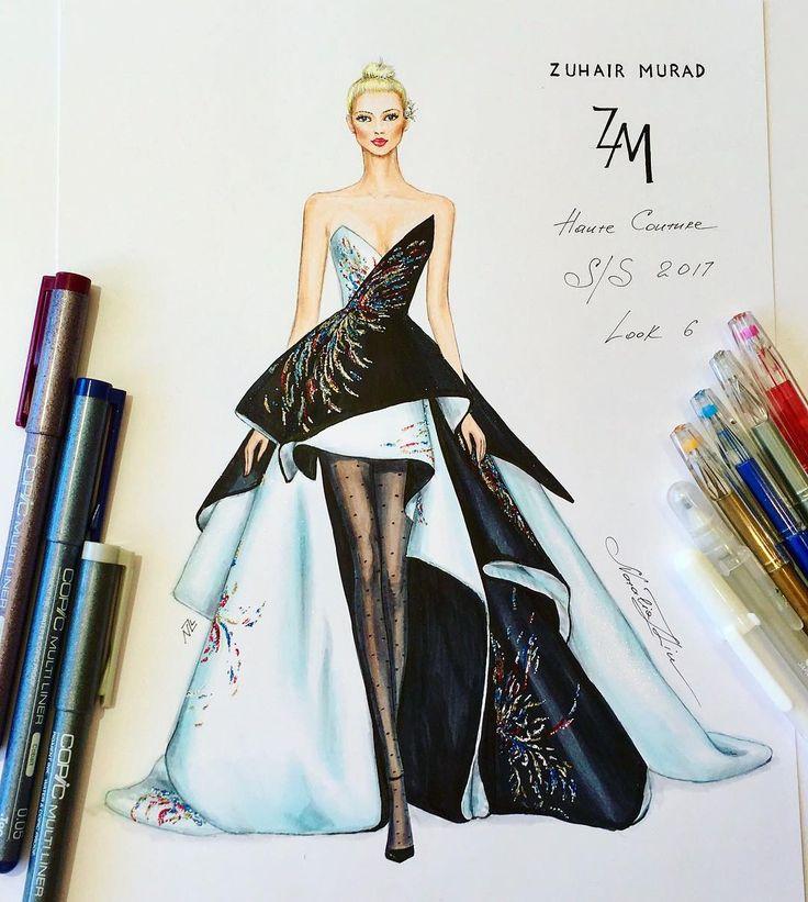 1,114 個讚,9 則留言 - Instagram 上的 NataliaZ.Liu(@nataliazorinliu):「 Beautiful structured couture gown Zuhair Murad Haute Couture Spring Summer 2017 collection… 」